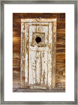 Classic Rustic Rural Worn Old Barn Door Framed Print by James BO  Insogna