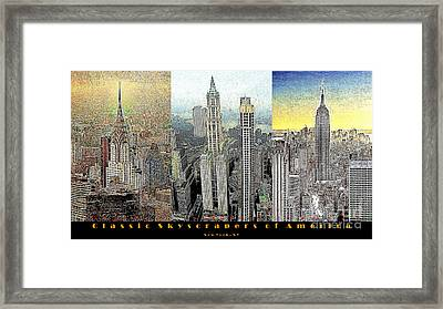 Classic Skyscrapers Of America 20130428 Framed Print by Wingsdomain Art and Photography