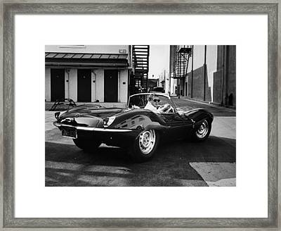 Classic Steve Mcqueen Photo Framed Print by Nomad Art