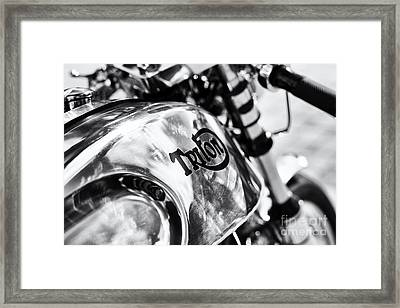 Classic Triton Cafe Racer  Framed Print by Tim Gainey