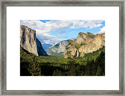 Classic Tunnel-view, Bridalveil Falls Framed Print by Tom Norring