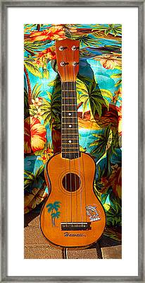 Classic Ukelele Framed Print by Ron Regalado