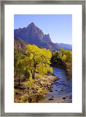 Classic Zion Framed Print by Chad Dutson