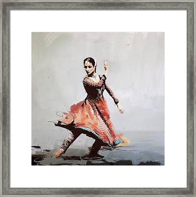 Classical Dance Art 11 Framed Print by Maryam Mughal