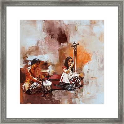 Classical Dance Art 17 Framed Print by Maryam Mughal