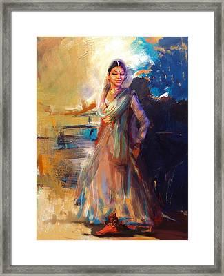 Classical Dance Art 5 Framed Print by Maryam Mughal