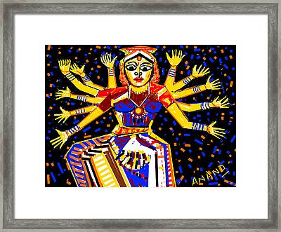 Classical Dancer Framed Print by Anand Swaroop Manchiraju