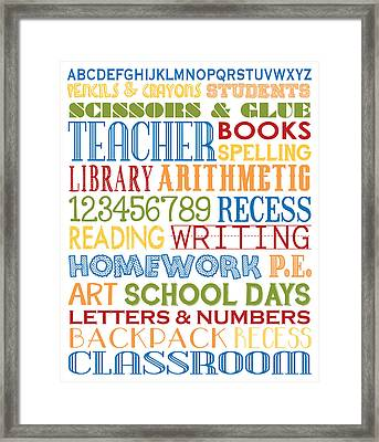 Classroom Subway Art Poster Framed Print by Jaime Friedman