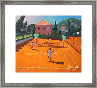 Clay Court Tennis Framed Print by Andrew Macara