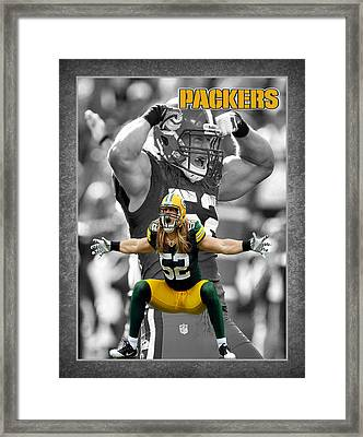 Clay Matthews Packers Framed Print by Joe Hamilton