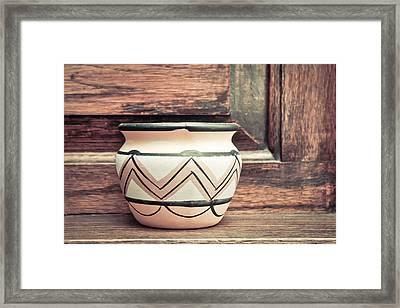 Clay Pot Framed Print by Tom Gowanlock