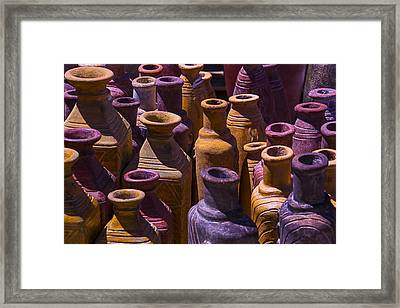 Clay Vases Framed Print by Garry Gay