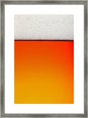 Clean Beer Background Framed Print by Johan Swanepoel