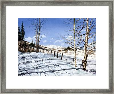 Clear Blue Silence Framed Print by Barbara Jewell