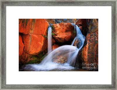 Clear Creek Falls Framed Print by Inge Johnsson