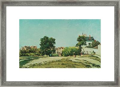 Clearing Of The Old Cemetery In Pontoise Framed Print by Camille Pissarro