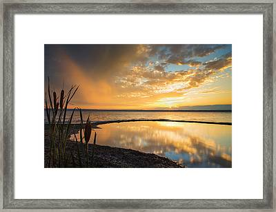 Clearing Rainstorm Framed Print by Michele Steffey