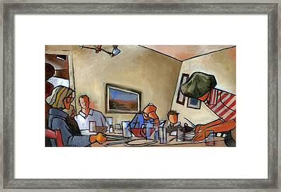 Clearing The Table Framed Print by Douglas Simonson
