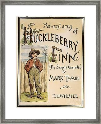 Clemens: Huck Finn, 1885 Framed Print by Granger