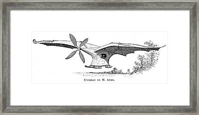 Clement Ader's Flying Bird 'eole' Framed Print by Universal History Archive/uig