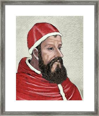 Clement Vii (1478-1534 Framed Print by Prisma Archivo