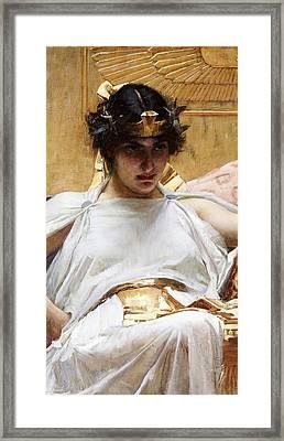 Cleopatra Framed Print by John William Waterhouse