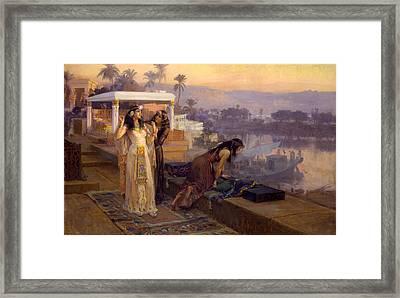 Cleopatra On The Terraces Of Philae Framed Print by Frederick Arthur Bridgman