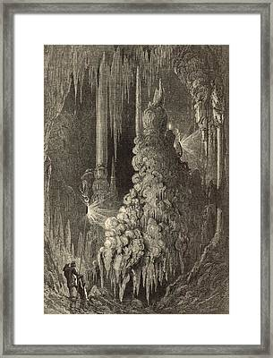 Cleopatra's Needle And Anthony's Pillar 1872 Engraving Framed Print by Antique Engravings
