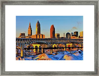 Cleveland Framed Print by Benjamin Yeager