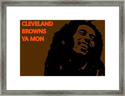Cleveland Browns Ya Mon Framed Print by Joe Hamilton