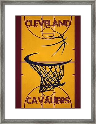 Cleveland Cavaliers Court Framed Print by Joe Hamilton