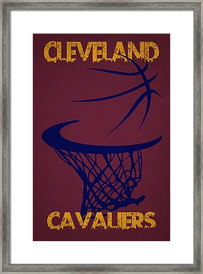 Cleveland Cavaliers Hoop Framed Print by Joe Hamilton