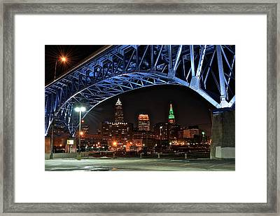 Cleveland Framed In Color Framed Print by Frozen in Time Fine Art Photography