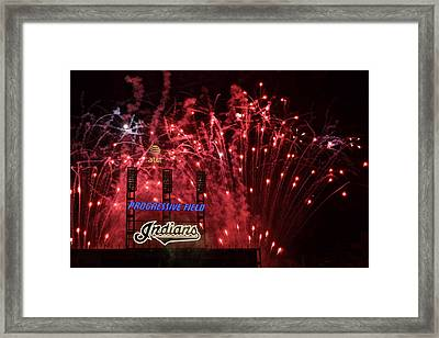 Cleveland Indians Framed Print by Frozen in Time Fine Art Photography