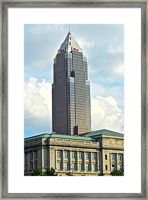 Cleveland Key Bank Building Framed Print by Frozen in Time Fine Art Photography