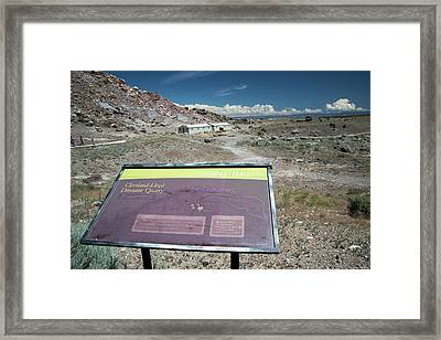 Cleveland-lloyd Dinosaur Quarry Framed Print by Jim West