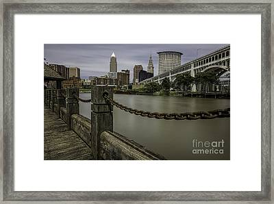Cleveland Ohio Framed Print by James Dean