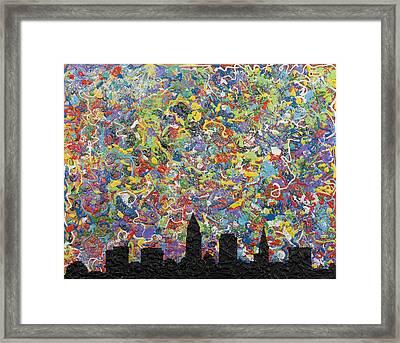 Cleveland Rocks Framed Print by Lifeblood Art