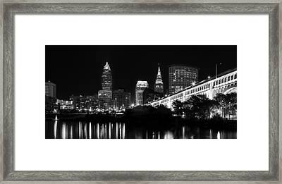 Cleveland Skyline Framed Print by Dale Kincaid