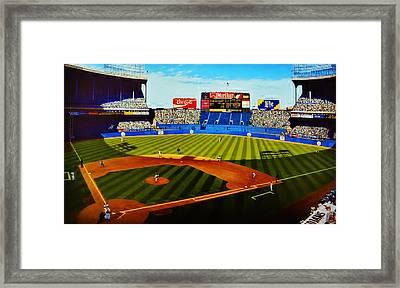 Cleveland Stadium Framed Print by Thomas  Kolendra