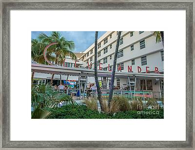 Clevelander Hotel Art Deco District Sobe Miami Florida Framed Print by Ian Monk