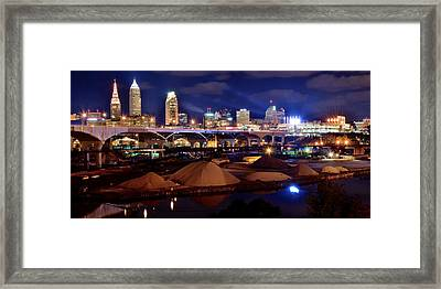 Clevelands Industrial Side Framed Print by Frozen in Time Fine Art Photography