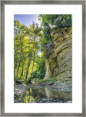 Cliff Framed Print by Alexey Stiop