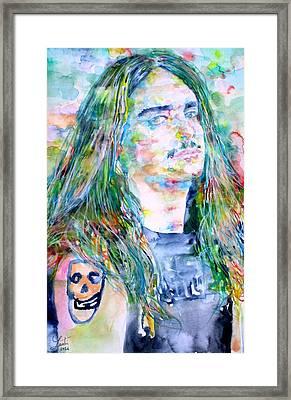 Cliff Burton Portrait.1 Framed Print by Fabrizio Cassetta