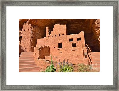 Cliff Dwelling Framed Print by Kathleen Struckle