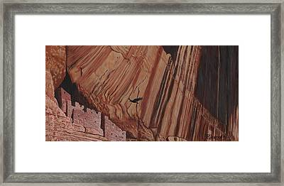 Cliff Home Framed Print by Timithy L Gordon