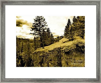 Cliff Framed Print by John Kreiter