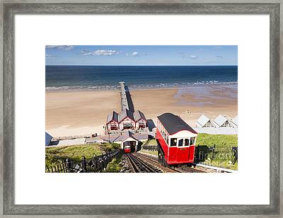 Cliff Railway Saltburn By The Sea Framed Print by Colin and Linda McKie