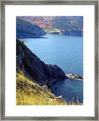 Cliffhangar Framed Print by Janet Ashworth