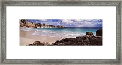 Cliffs At Seaside, Logan Rock Framed Print by Panoramic Images